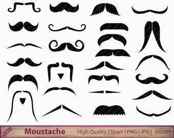 Mustache clipart – Etsy