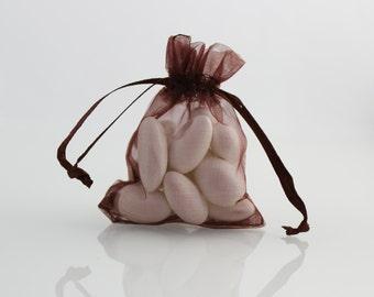 4 x 6 Brown Organza Bag // 4 x 6 in // Organza Bags // BBBsupplies {CR-O-E002}