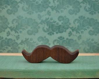 Wooden Mustache teether