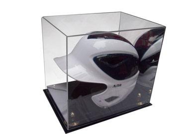 Baseball Helmet Display Case with Mirror