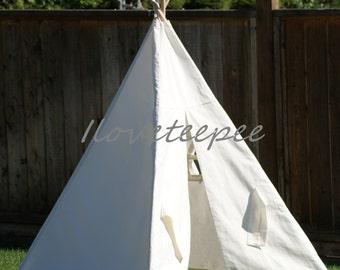 Teepee, kid teepee, Iloveteepee white teepee with poles