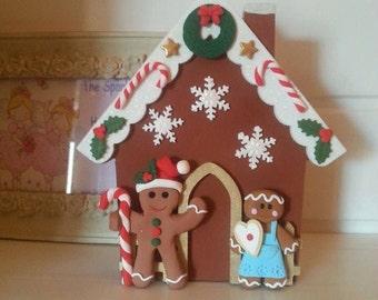 Freestanding Wooden Gingerbread House