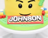 Fondant Lego Name Plate/Badge/ Cake Topper