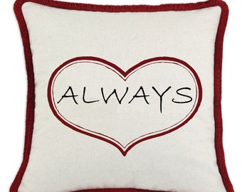 Valentine Always Heart Pillow