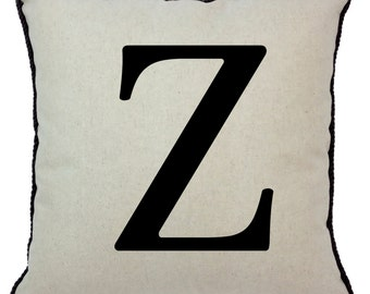Alphabet Pillow Z