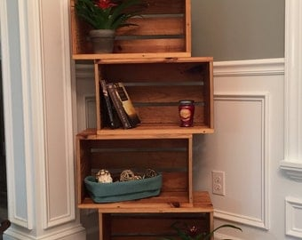 Offset reclaimed Pine Bookcase