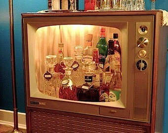 Retro Television Drinks Cabinet