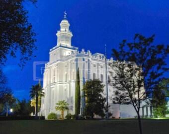 St. George Temple Night