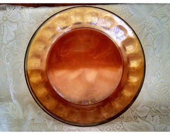Arcoroc Amber Glass Dinner Plates - Set of 4