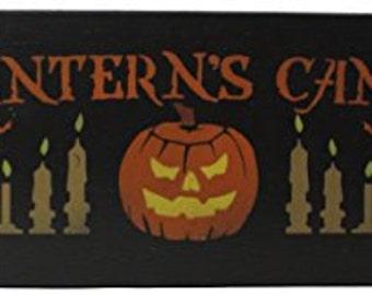 Halloween Jack Lantern's Candle Co. Wood Sign