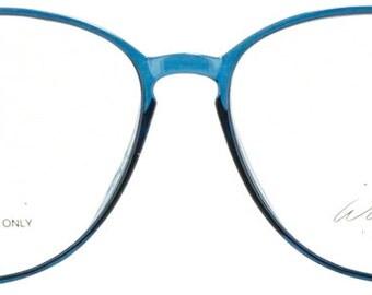 Teal 1980s Plastic Eyeglasses Frames