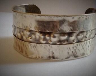 Sterling Silver Fold Forded Cuff Bracelet