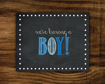Andrew - Printable It's a Boy Sign
