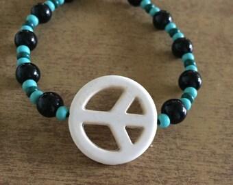 Peace out (blue)