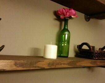 Restoration Hardware inspired shelf; ballard designs style shelf; reclaimed wood; floating shelf