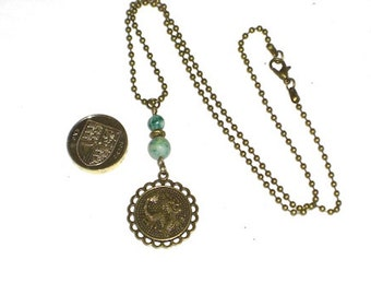 Bronze Dragon And Ching Hai Jade Necklace