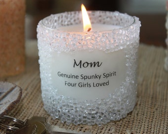 Personalized Soy Candle (Crystal Finish)