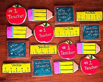 One Dozen - Teacher Appreciation - Back to School Cookies