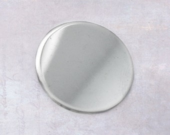 6 x Stainless Steel 20mm Round Blank Disc Coin Stamping Blanks - No Holes