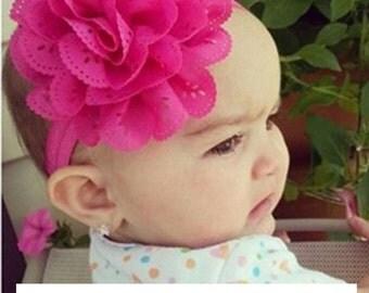 Rose big flower headband baby girl ADORABLE photo prop
