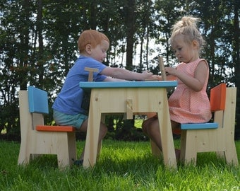 Wooden table and Chair | set children