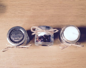 Upcycled Mini Jam Jar Tealights (set of three)
