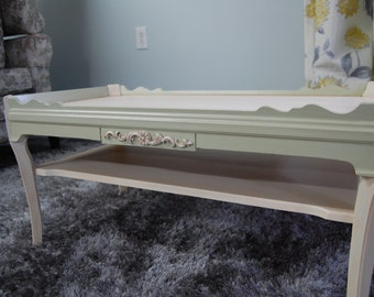 Country Chic Painted French Country Coffee Table