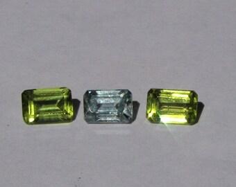 Blue Zircon/Peridot combo - NATURAL Stones