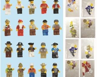 10 pc Mini Figures Lego Theme Figures DIY Crafts