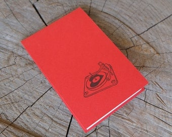 Letterpress Booklet, Mini Record Player - Red
