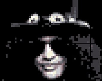 Slash Guns n Roses Velvet Revolver Cross Stitch Pattern