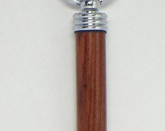 Secret Compartment Key Chain with Cocobolo wood-#K005