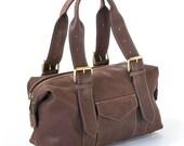 Leather Handbag  Handmade Shoulder Bag  Tan Brown Shopper Bag  Women Christmas Gift