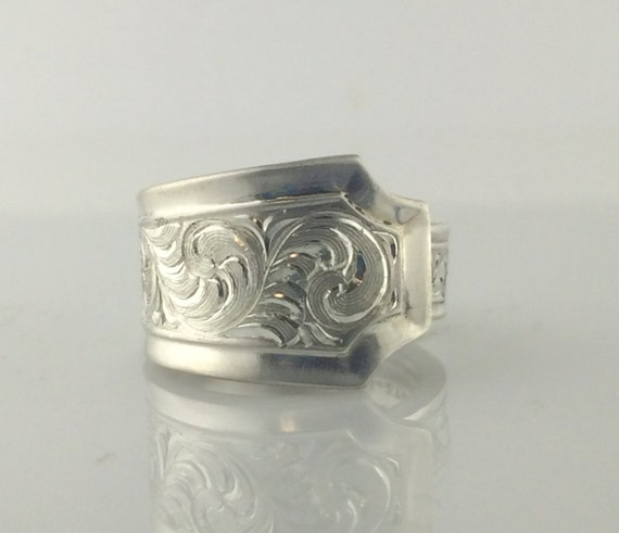 western silver rings silver spoon ring gift for handmade