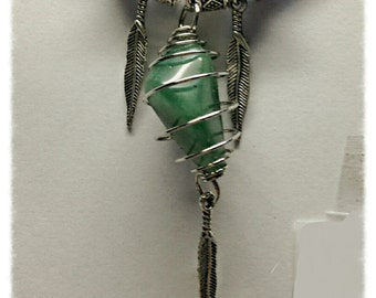Prasiolite(Green Amethyst) Amulet MWCP001