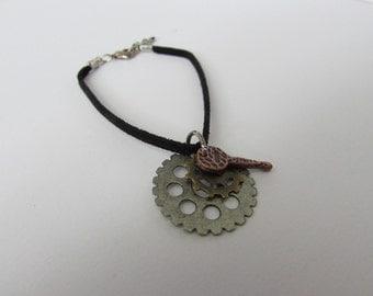 Gears and Key Bracelet