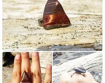 Stunning Stone Ring / Statement Rock Jewlery / Natural Accessory