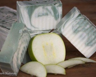 Soap Sale, Green Apple Soap, Gift Soap, All Natural, Cold Process, Handmade Soap, Vegan Soap