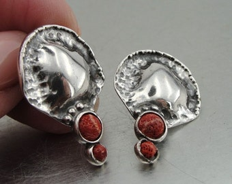 DUERRY's Pomegranate earrings 925 sterling silver
