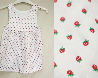 The 'Sami' Playsuit in a Strawberry print fabric age 3-4 years
