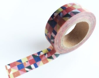 Multi color mosaic washi tape