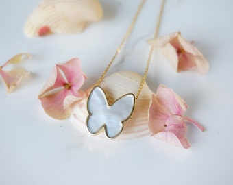 14k - Mother of Pearl - necklace