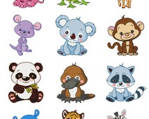 Wild Animal Baby Embroidery Design Zip File Download