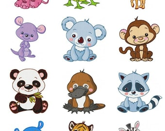 Wild Animal Baby Embroidery Design CD