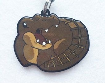 Chocodile - The Chocolate Crocodile Acrylic Charm, Crocodile Keychain, Crocodile Cell Charm