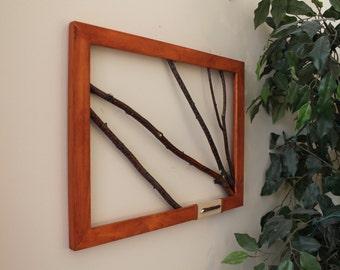 White Birch Twig Wall Art, Branch Art, Rustic Decor, Birch Bark Twigs, Tree Wall Art, Cabin Decor, Lakehouse Decor, Twig Art, Reclaimed Wood