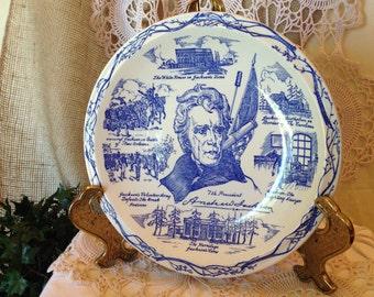 Vernon Kilns Presidential Blue Plate
