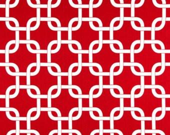 Premier Prints Geometric Gotcha in Lipstick Red Twill Home Decor fabric, 1 yard