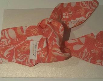 SALE - Top Knot Headband Infant/Toddler - Tangerine Floral