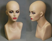 Hand Painted Female Mannequin Head